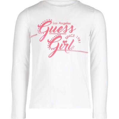 Afbeelding van Guess K91I01 kinder t-shirt wit