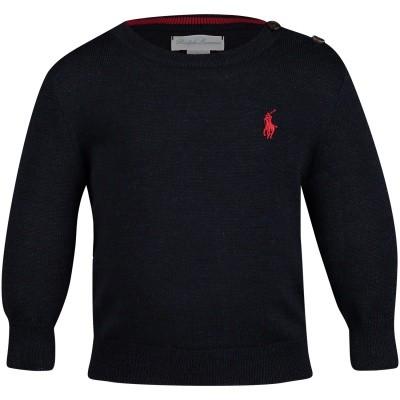 Picture of Ralph Lauren 320702312 baby sweater navy