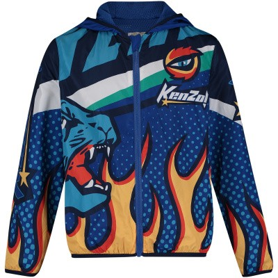 Picture of Kenzo KN42508 kids jacket blue