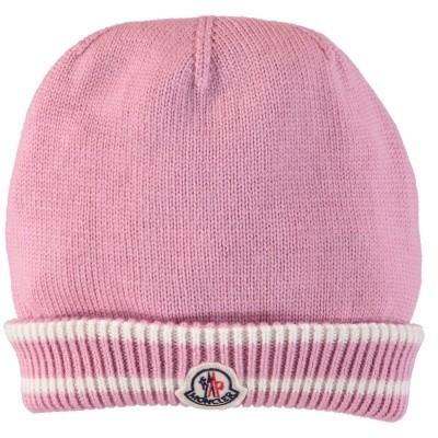 Afbeelding van Moncler 9921105 babymutsje roze