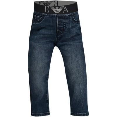 Afbeelding van Armani 6ZHJ07 4DFGZ babybroekje jeans
