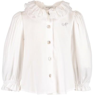 Afbeelding van MonnaLisa 312303 baby blouse off white
