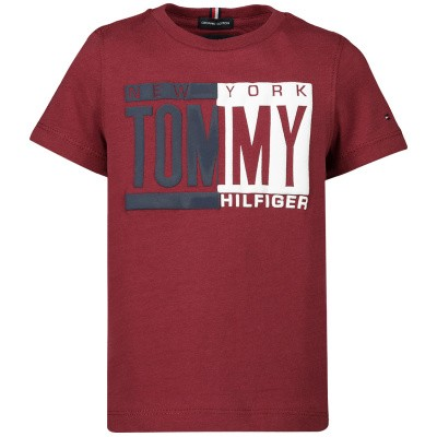 Picture of Tommy Hilfiger KB0KB04994B baby shirt bordeaux