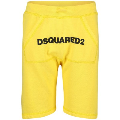 Picture of Dsquared2 DQ03B1 kids shorts yellow