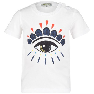 Picture of Kenzo KN10508BB baby shirt white