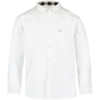 Afbeelding van Burberry 4057991 kinder overhemd wit
