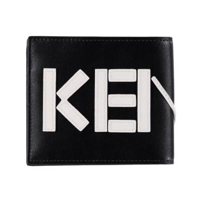 Afbeelding van Kenzo F855PM503L46 heren portemonnee zwart