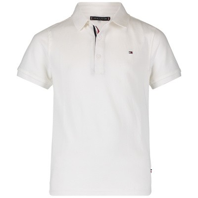 Picture of Tommy Hilfiger KB0KB04527 kids polo shirt white