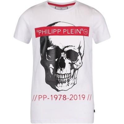 Afbeelding van Philipp Plein BTK0576 kinder t-shirt wit