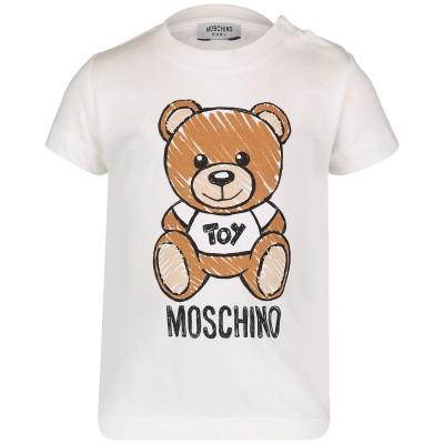 Afbeelding van Moschino MXM01N baby t-shirt off white