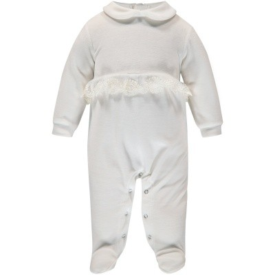 Picture of Story Loris 16523 baby playsuit off white