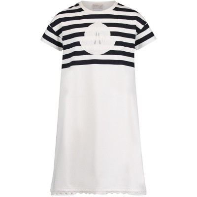 Picture of Moncler 8573650 kids dress off white