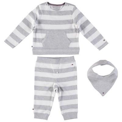 Afbeelding van Tommy Hilfiger KN0KN00911 babysetje grijs