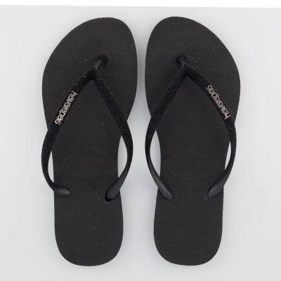 Picture of Havaianas 4143975 womens flipflops black