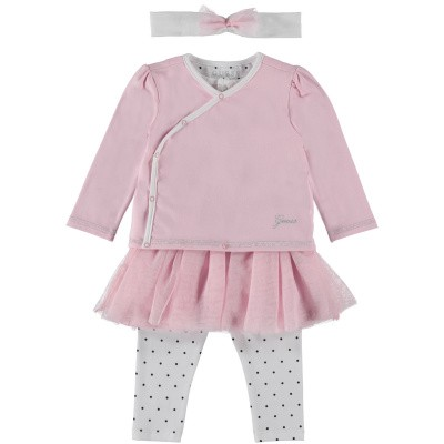 Picture of Guess S91G06 baby playsuit light pink