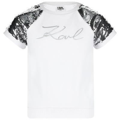 Afbeelding van Karl Lagerfeld Z15191 kinder t-shirt wit