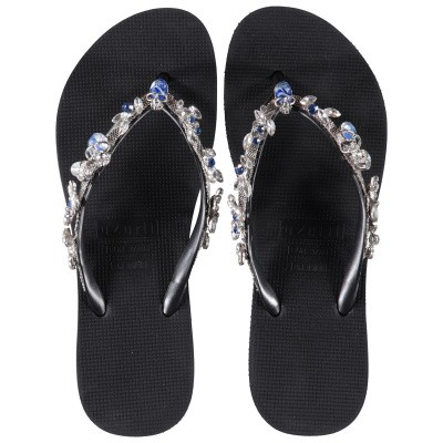 Afbeelding van UZURII STELLA SKULL dames slippers zwart