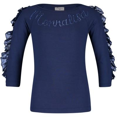 Picture of MonnaLisa 173600A5 kids t-shirt blue