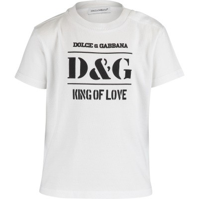 Picture of Dolce & Gabbana L1JT8E baby shirt white