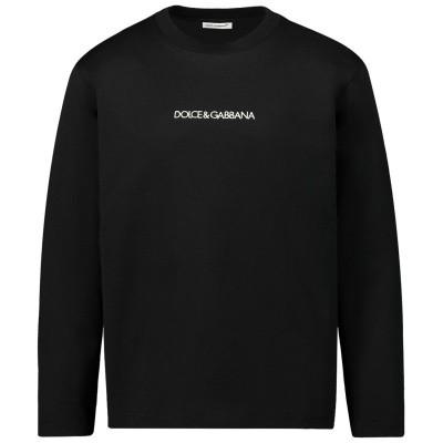 Afbeelding van Dolce & Gabbana L4JT7M G7STN kinder t-shirt zwart