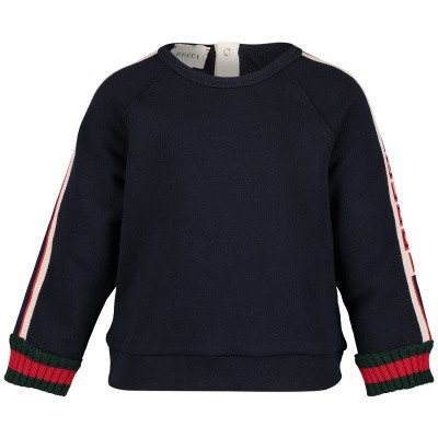 Picture of Gucci 548508 baby sweater navy