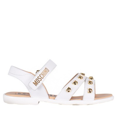 Picture of Moschino 0010502525 kids sandals white