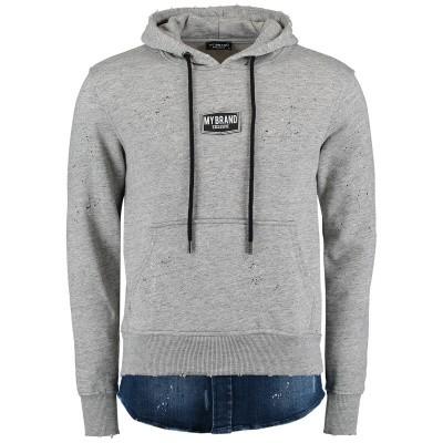 Afbeelding van My Brand MMBHO016G3001 heren trui grijs