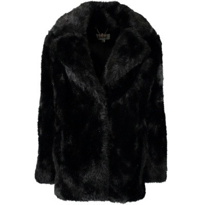Afbeelding van Jakke HEATHER Black dames jas zwart