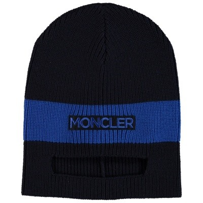 Picture of Moncler 9920800 kids hat navy