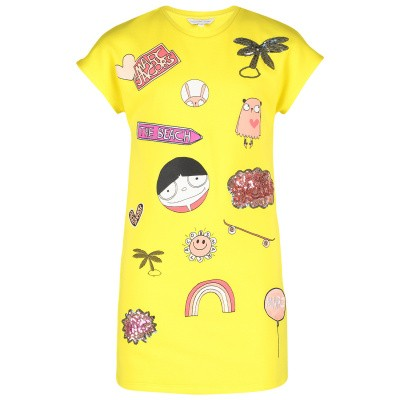 Picture of Marc Jacobs W12267 kids dress yellow