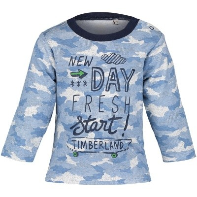 Picture of Timberland T95847 baby shirt blue