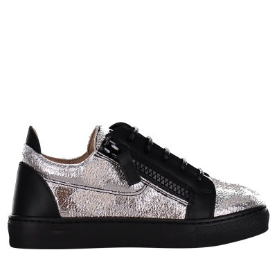 Picture of Guiseppe Zanotti SBE8102/8402 kids sneakers silver
