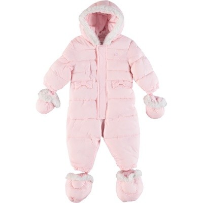 Picture of Mayoral 2618 baby snowsuit light pink