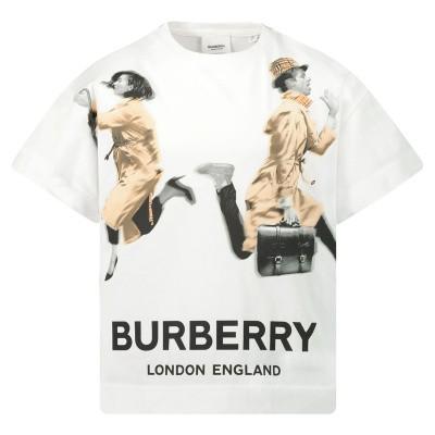 Afbeelding van Burberry 8016658 kinder t-shirt wit