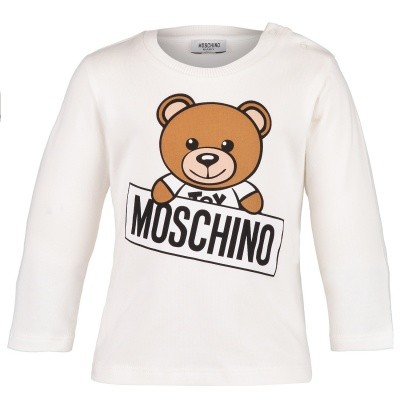 Picture of Moschino M5M01L baby shirt off white