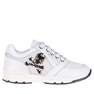 002013a8f0c Afbeelding van Philipp Plein BSC0144 kindersneakers wit. Philipp Plein  kindersneakers unisex junior