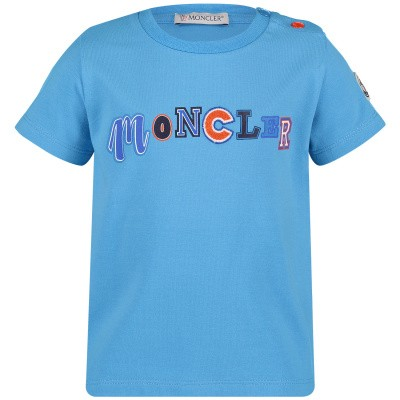 Picture of Moncler 8025450 baby shirt turquoise
