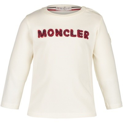 Picture of Moncler 8022850 baby shirt off white