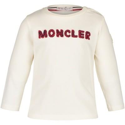 Afbeelding van Moncler 8022850 baby t-shirt off white
