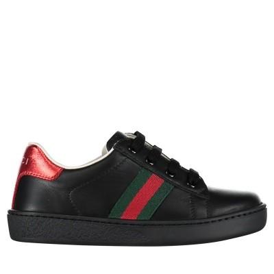 9b76f65f23a Afbeelding van Gucci 433146 CPWE0 kindersneakers zwart