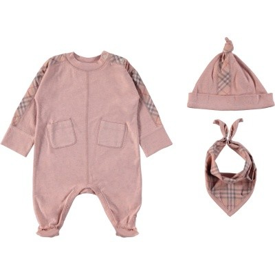 Picture of Burberry 8004474 baby playsuit light pink