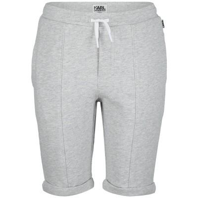 Afbeelding van Karl Lagerfeld Z24180 kinder shorts licht grijs