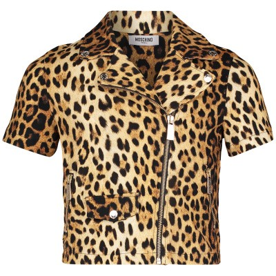 Picture of Moschino HDF023 kids vest panther