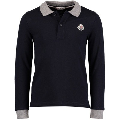 Picture of Moncler 8307750 kids polo shirt navy