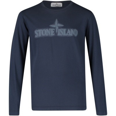 Picture of Stone Island 691621155 kids t-shirt navy