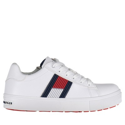 Picture of Tommy Hilfiger 30320 kids sneakers white