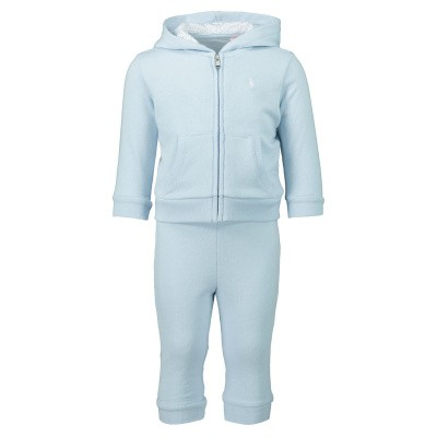 Picture of Ralph Lauren 735053 baby sweatsuit light blue