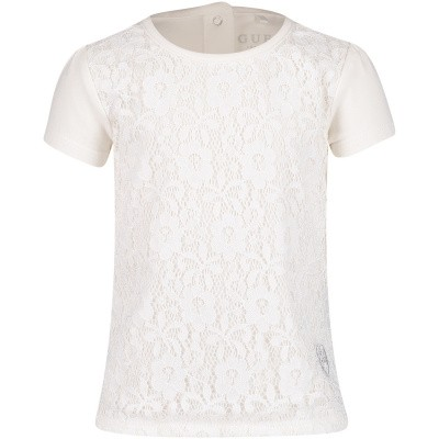 Picture of Guess A91I14 baby shirt off white