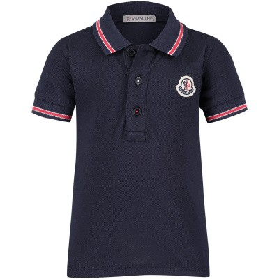 Picture of Moncler 8306605 baby poloshirt navy