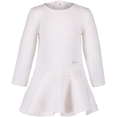 Picture of Guess A84K03 baby dress off white